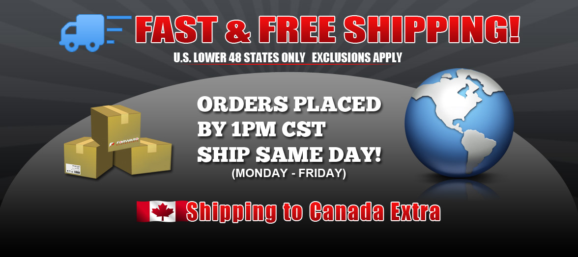 Forward Powersports fast and free shipping