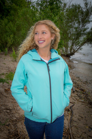 Mossi - Ladies Deluxe Premium Soft Shell Jacket (Robin's Egg Blue)