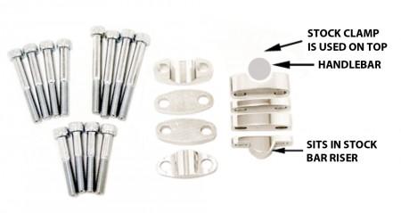 Adjustable Handlebar Riser Kit - 1 1/8 in.