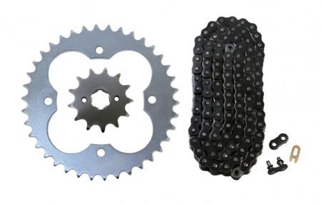 Black O-Ring Chain & Sprocket Kit, 13/38
