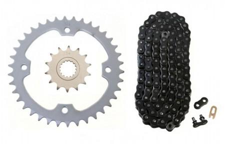 Black O-Ring Chain & Sprocket Kit, 14/38