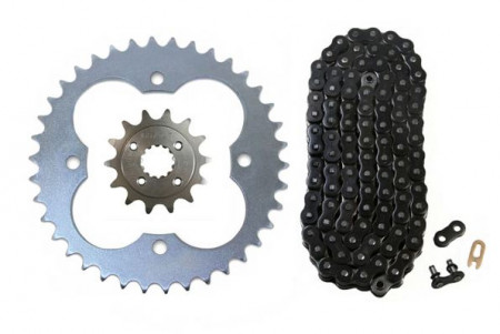 Black O-Ring Chain & Sprocket Kit, 14/39