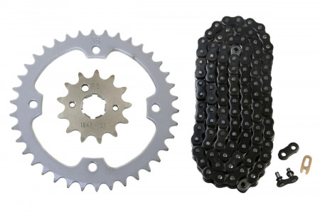 Black O-Ring Chain & Sprocket Kit, 13/38