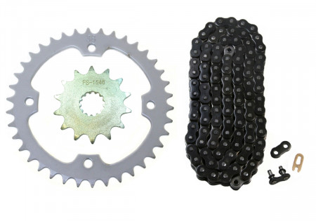 Black O-Ring Chain & Sprocket Kit, 14/38