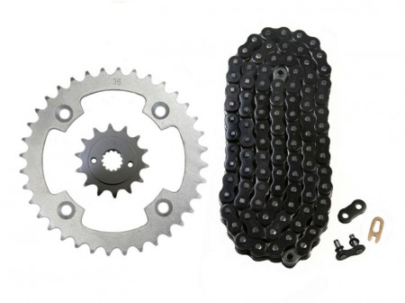 Black O-Ring Chain & Sprocket Kit, 14/36