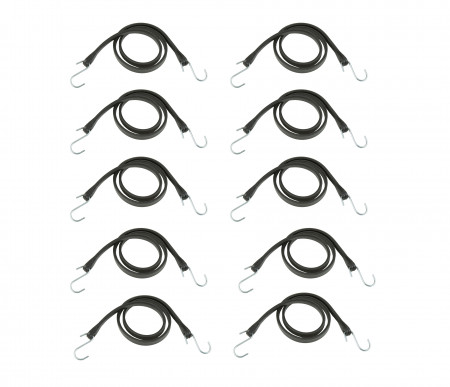 """RPS Outdoors Black 21"""" Bungee Strap, 10 Pack"""