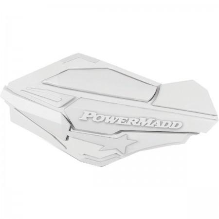 PowerMadd Sentinel Handguards - White/White - 34418
