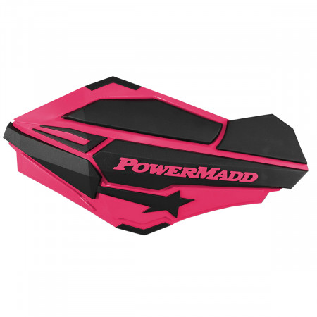 PowerMadd Sentinel Handguards - Pink/Black - 34424