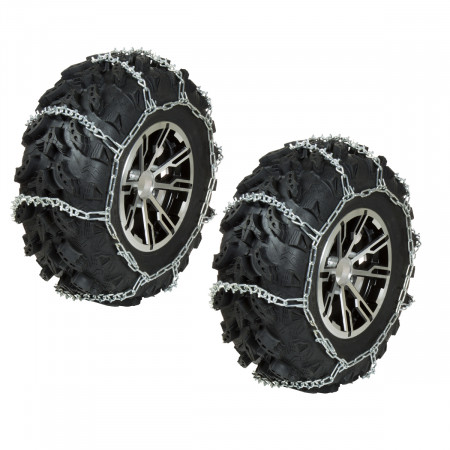 Front ATV Tire Chains - 53 in. Long x 10 in. Wide