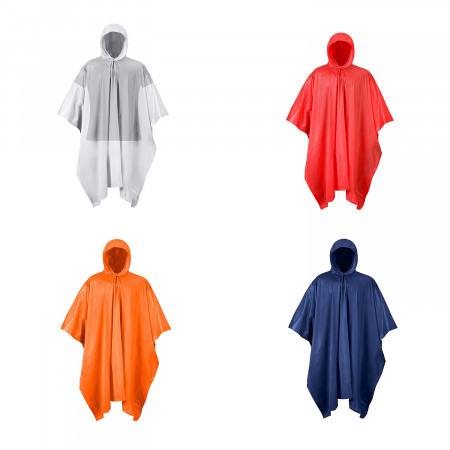 RPS Outdoors PVC Rain Poncho (Blaze Orange, Clear, Navy Blue, or Red)