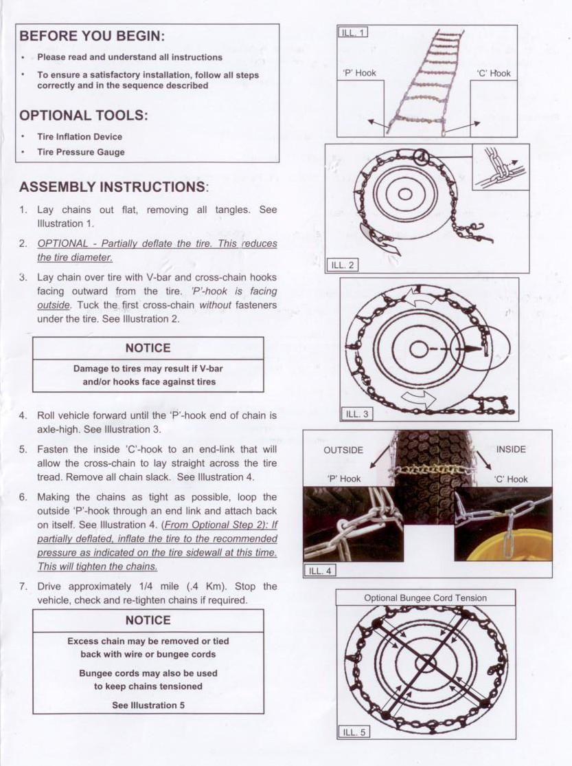 Raider ATV-TC3-Front ATV Tire Chains - 54