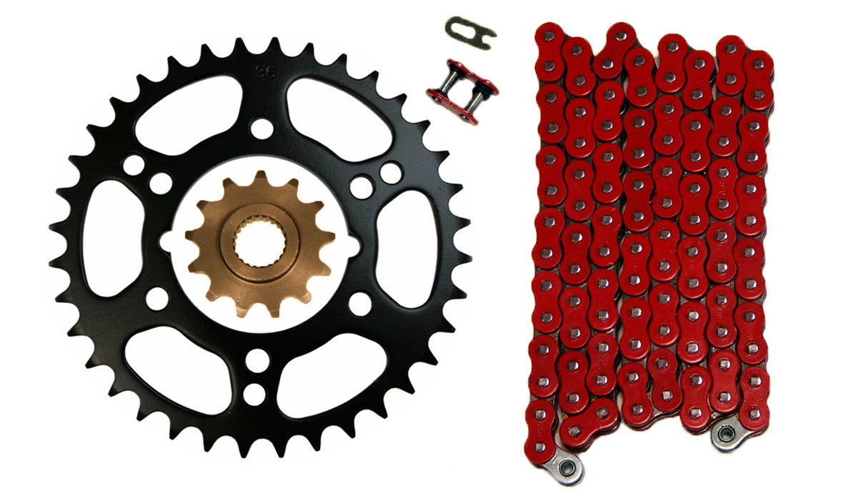 2000 2001 Polaris Scrambler 400 4X4 O-Ring Chain And Sprocket Set 520-76L