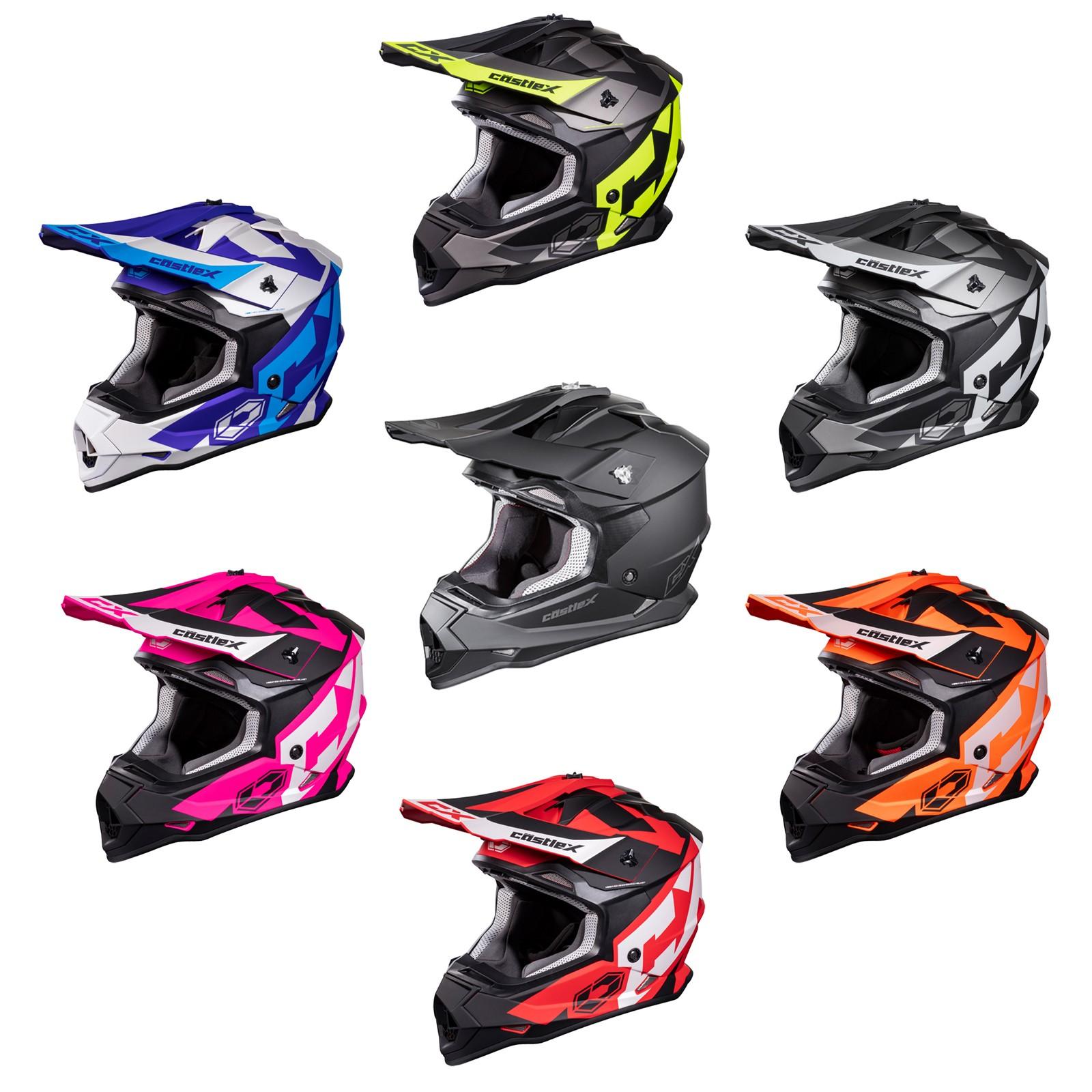 Castle X Mode MX Stance Helmet Hi-Vis NEW