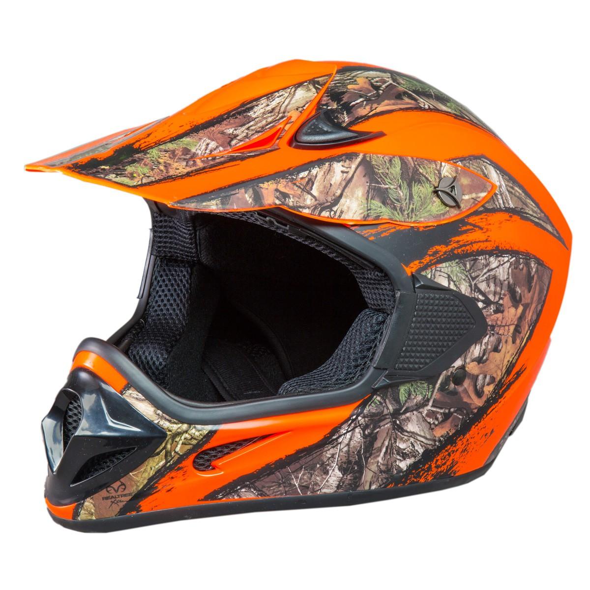 Shc Sh Or Realtree Xtra Camo Adult Helmet Atv Mx Off