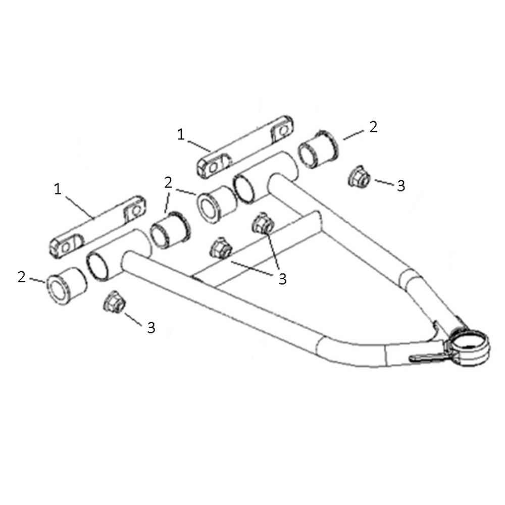 Spi Sm 08276 Upper A Arm Bushing Kit For Polaris 600 800 Rush Wiring Diagram